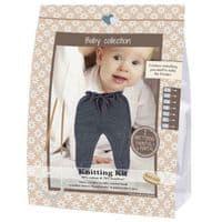 Go Handmade Knitting Crochet Kit Baby Trousers - Dark Grey
